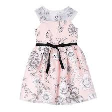 Pippa And Julie Size Chart Pippa Julie Girls Floral Dress With Illusion Neckline