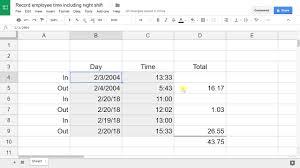 timesheet calculator spreadsheet create an employee timesheet using google sheets