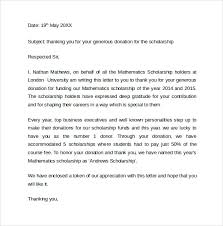 Scholarship Thank you Letter Example
