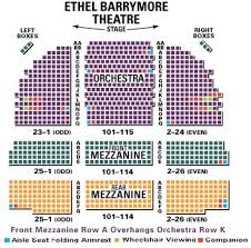 Snapple Theater Seating Chart Barrymore Theatre Seating Chart The Bands Visit Guide