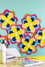 How To Create A Flower With Paper How To Make Giant Colorful Paper Flowers Live Colorful
