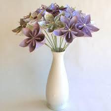 Paper Flower Bouquet In Vase Purple Bouquet In Vase Purple Origami Bouquet Paper Flower