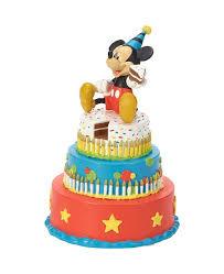 Precious Moments Disney Showcase Mickey Mouse Birthday Cake Led