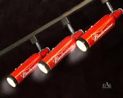 Track Lighting Fixture, Beer bottles, 3 Track lights and Track.