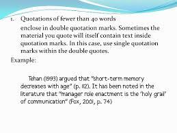 Apa Citing Paraphrasing And Quoting Presentation Enchanting Quote Apa