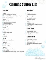 cleaning supplies list an easy way to save money on household goods free printable