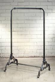 Industrial Clothing Rack with Ornate Base - Vintage and Industrial Style Clothing  Racks - Vintage and Industrial Products