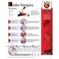 Cardiac Emergency Chart Laminated