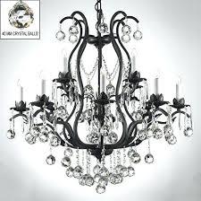 iron crystal chandelier trimmed wrought lighting dressed w benita antique bronze 4 light orb