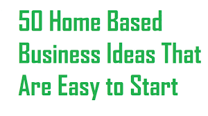 50 Home Based Business Ideas That Are Easy To Start In 2017 Youtube