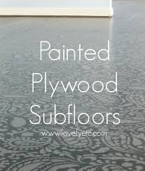 Painting A Kitchen Floor Amazing Painted Plywood Subfloor A How To