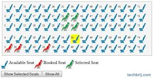 Javascript Interactive Seating Chart Seat Reservation With Jquery Techbrij