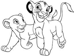 The Lion King Simba And His Girlfriend Coloring Page Download