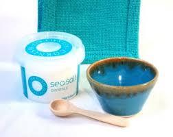 salt pinch pot cornish sea salt turquoise gift bag