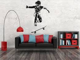 sport wall decals wall stickers on radical sports skateboarding might look scary and hard