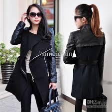 whole women s long warm pu leather sleeve jpg
