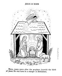 48 Baby Jesus Manger Coloring Page Baby Jesus In A Manger In