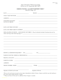 First Aid Incident Report Form Template Free Buildingcontractor Co