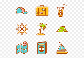 Summer Icons Summertime Elements Summer Icons Transparent Background