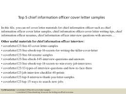Cio Cover Letter Top 5 Chief Information Officer Cover Letter Samples