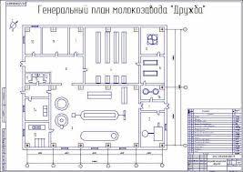 Реконструкция цеха по производству соевого молока Генеральный план молокозавода Дружба
