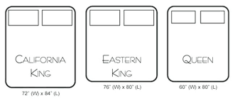 eastern king mattress. Eastern King Vs Cal Unique Mattress Captivating Bed Dimensions Full .
