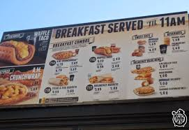 taco bell breakfast menu waffle taco. Plain Waffle FATGUYFOODBLOG Taco Bell Breakfast Menu Part 1 The AM Crunchwrap Waffle  And More To N