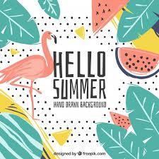summer background tropical hello summer background vector free download