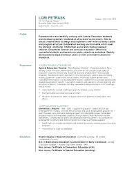 Higher Education Resume Samples This Is Resume For Teaching Job