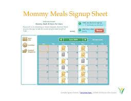 Easy Sign Up Sheet Calendar Sign Up Sheet Under Fontanacountryinn Com