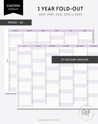 A5 2019 2020 2021 2022 2023 1 Anno Planner Planner Etsy