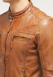 hombre chaquetas oakwood casey chaqueta de cuero cognac chaquetas oakwood barata oakwood