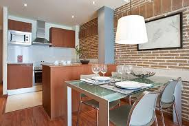 Brick Kitchen Astonishing Apartment Kitchen With Brick Wall And Modern