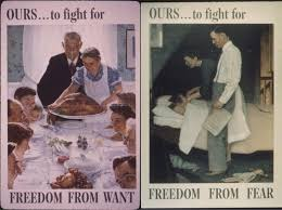 rockwell s takes on freedom from want and freedom from fear were met with distaste among many living in allied europe who saw the images as crass