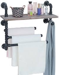 industrial towel rack with 3 towel