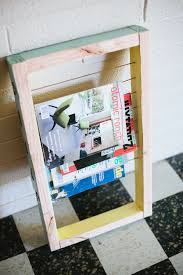 How To Make A Magazine Holder From Cardboard Adorable 32 DIY Magazine Rack Projects
