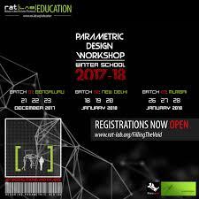 Parametric Design Workshop 2018 Parametric Design Workshop Winter School 2017 18 By Rat