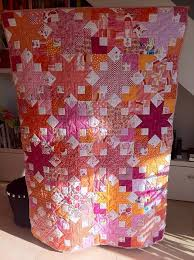 38 best Quilts - Boxy star images on Pinterest | Bonnie hunter ... & Boxy Star Quilt Summertime--reminds me of watermelon Adamdwight.com