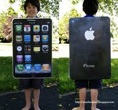 iphone costume. diy iphone costume- maybe out of battery or a cracked screen costume