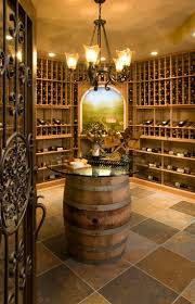 Home wine cellar and wine barrel table awesome