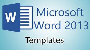Microsoft 2013 Templates Microsoft Word 2013 Tutorials Document Templates