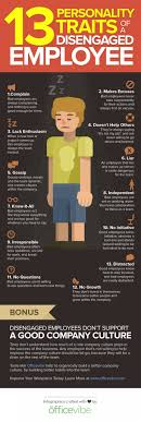 13 Personality Traits Of A Disengaged Employee Infographic Fyi