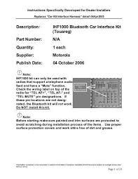 motorola ihf1000. description: ihf1000 bluetooth car interface kit (touareg) part . motorola ihf1000 0