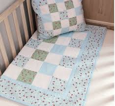 Blue Cot Quilt Kit for Baby Boy Patchwork Quilting by Sew Easy | eBay & Picture 1 of 2 ... Adamdwight.com