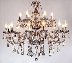smoke crystal chandelier gray pendant ceiling fixture lighting lamp 6 lights restoration