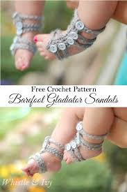 free crochet pattern these cute and easy barefoot gladiator sandals for baby are perfect for
