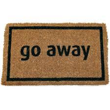 Entryways Go Away Black 17 in. x 28 in. Non Slip Coir Door Mat ...