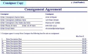 consignment form for cars download consignment agreement template downloadable cars