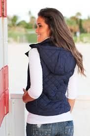 Navy Quilted Vest with Fur Collar | Vests – Saved by the Dress & Navy Quilted Vest with Fur Collar Adamdwight.com