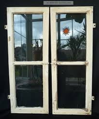 Alte Fenster Holzfenster Oberlichten Mit Sprossen 2 Stück